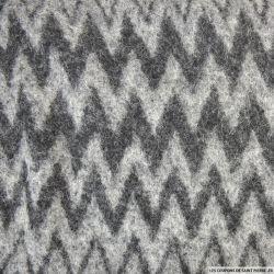 Laine mohair zigzag gris