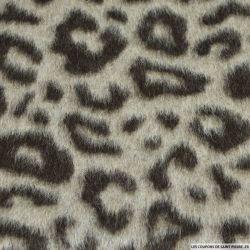 Laine mohair léopard gris et brun