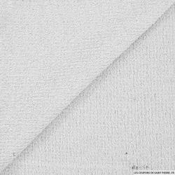 Maille tricot lurex blanc