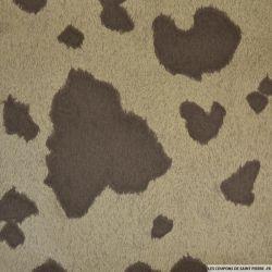 Gabardine de coton imprimée vache de normandie