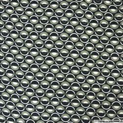 Viscose imprimée demi rond gris