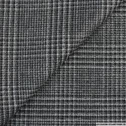 Clan irisé argent carreaux gris, noir et blanc