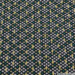 Microfibre imprimée royal touche dorée fond bleu marine