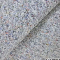 Laine mohair multicolore fond gris
