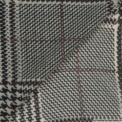 Mousseline imprimé carreaux et rectangle