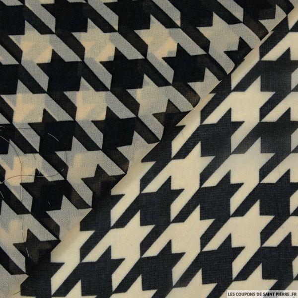 Mousseline imprimé chauve-souris beige et noir