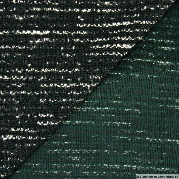 Maille chiné polyester vert bouteille