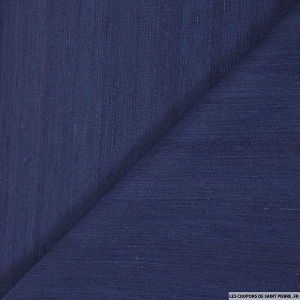 Doupion de soie bleu jean's