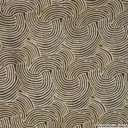 Satin polyester imprimé coquillage marron