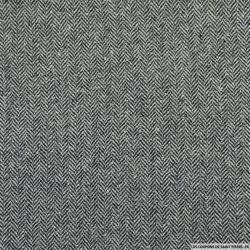 Chevron  fin de laine mélangée gris et blanc