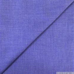 Voile de polycoton violet bleu