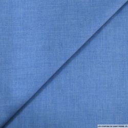 Voile de polycoton bleu clair