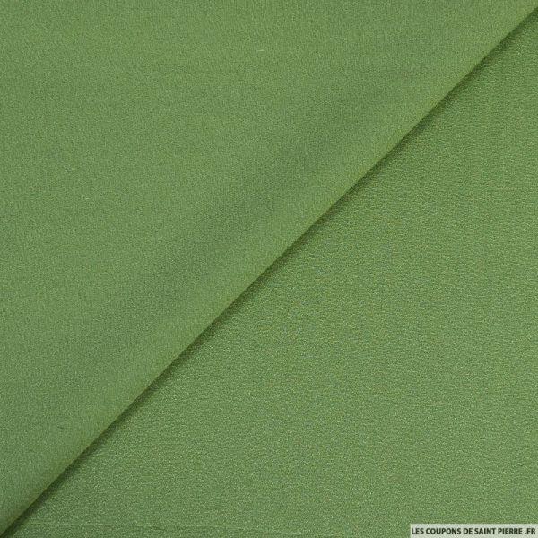 Crêpe georgette 100% vert amande