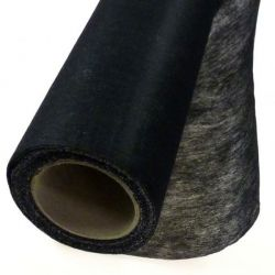 Tissu entoilage thermocollant ferme gris anthracite au mètre