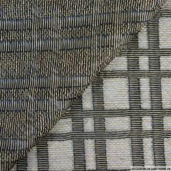 Organza de soie fils doré carreaux