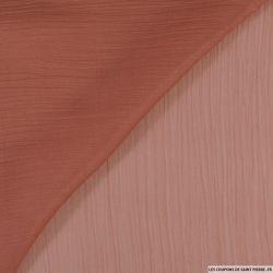 Mousseline crinkle rose foncé