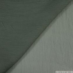 Mousseline crinkle vert oxyde chromique