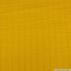 Viscose rayé lurex jaune miel