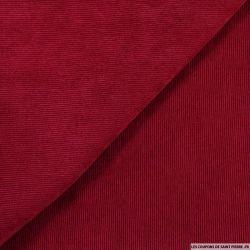 Velours polyester côtelé rouge