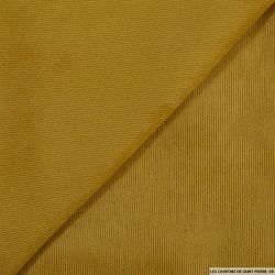 Velours polyester côtelé moutarde