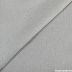 Coton chemise polyviscose gris clair