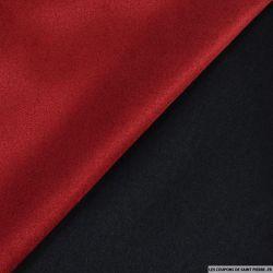 Tissu aspect daim contre collé rouge