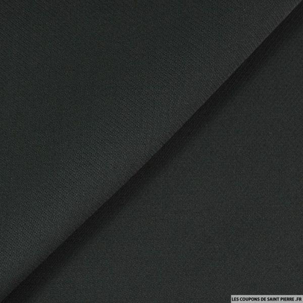 Crêpe de laine et soie gris légèrement verdâtre