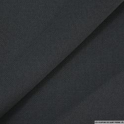 Crêpe de laine gris anthracite