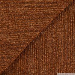 Maille tricot côtelé lurex auburn