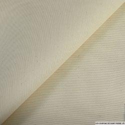 Gabardine de coton et soie blanc de troyes
