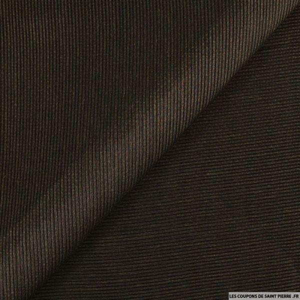 Gaze de soie et raphia marron