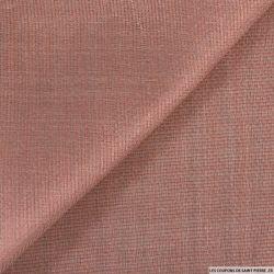 Gaze de soie et raphia rose