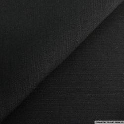 Crêpe de laine et soie noir de carbonne