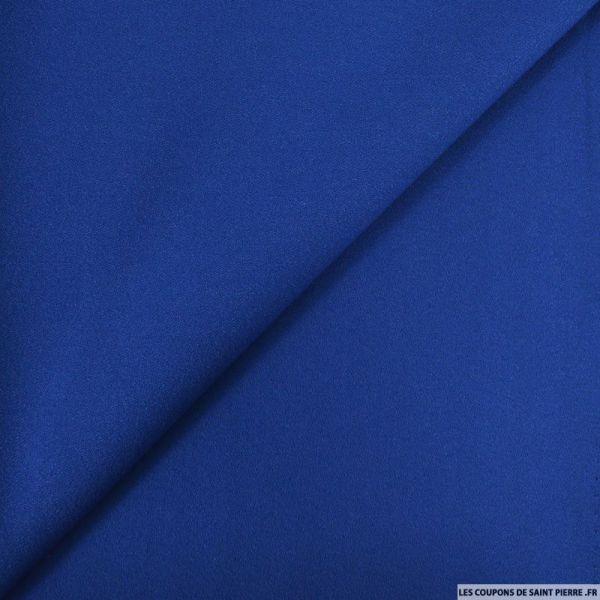 Crêpe polyviscose bleu roi