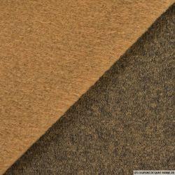 Jersey laine mélangée marron clair
