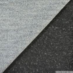 Laine chevron contrecollé lourd gris