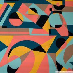 Crêpe lourd polyester imprimé pictural mood