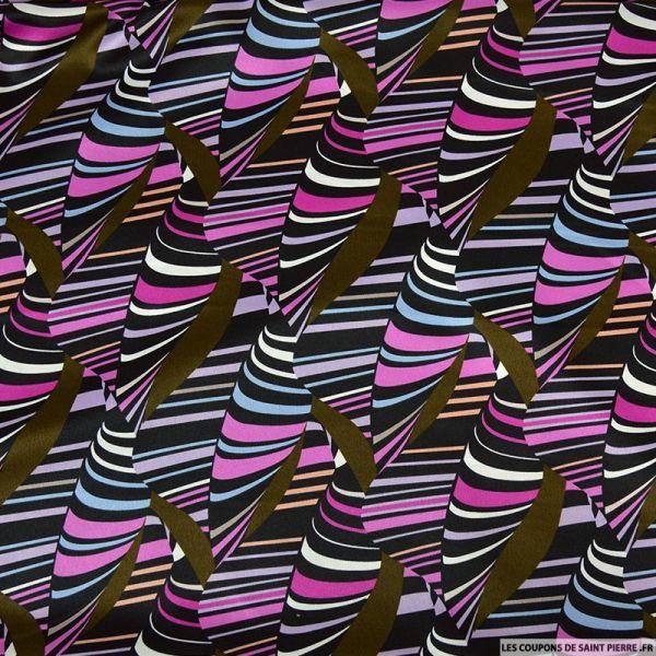 Crêpe lourd polyester imprimé comme une tornade !