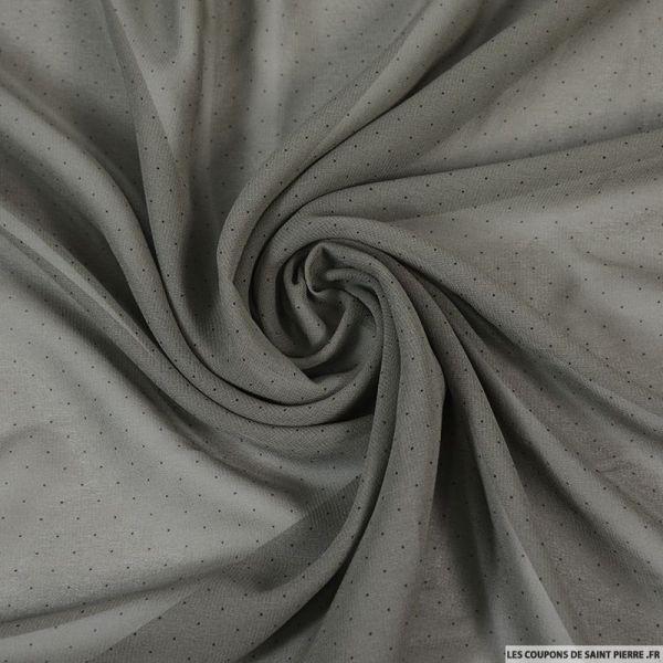 Mousseline de soie têtes d'épingles grège
