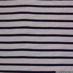 Jersey de polyester marinière parme et bleu