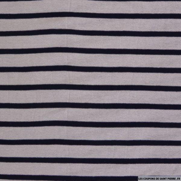 Jersey de polyester marnière parme et bleu