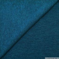 Maille unie bleu canard