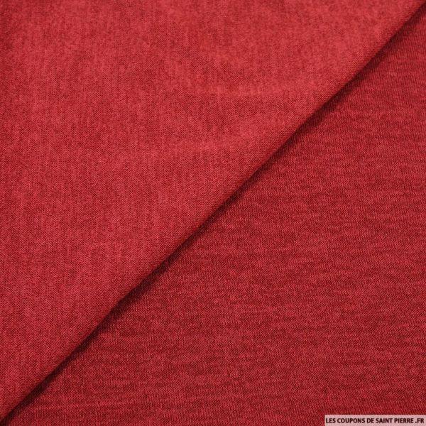 Maille unie rouge carmin