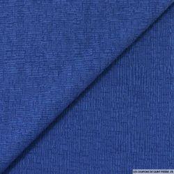 Maille texturée bleu