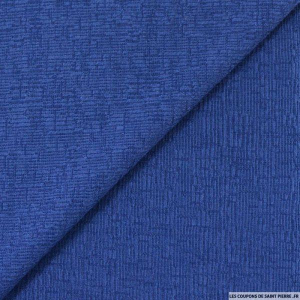 Maille rayé bleu