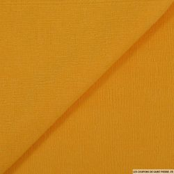 Maille texturée jaune mimosa