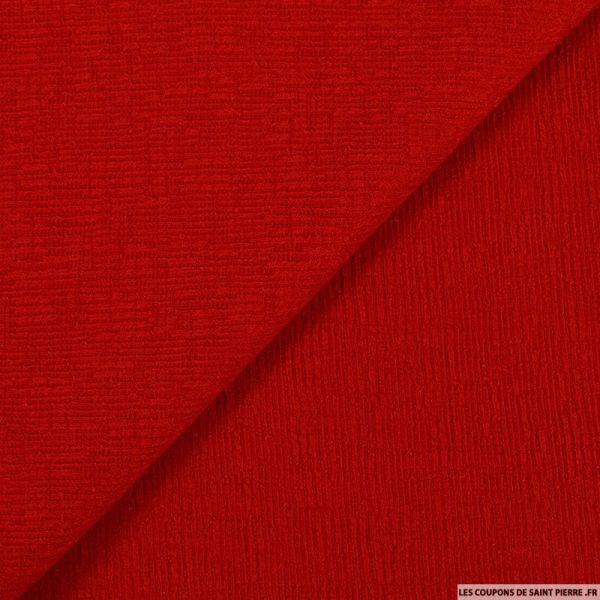 Maille texturée rouge