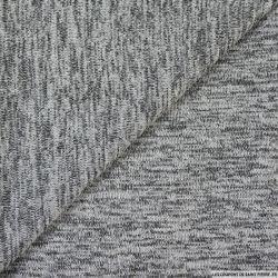 Maille chinée gris clair