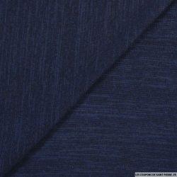 Maille chinée bleu