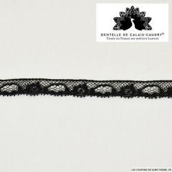 Ruban de Dentelle de calais® noir carrousel au mètre